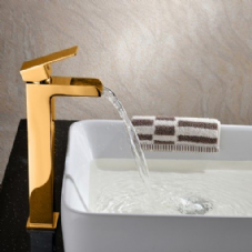 Gold High Rise Mono Basin Mixers